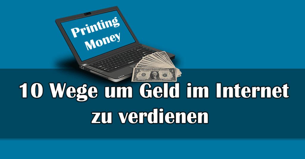 Geld Gewinnen Im Internet