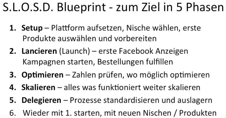 Ecom Formel Blueprint - so gelingt dir das Dropshipping Modell