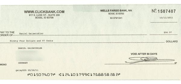 Geld verdienen von zu Hause - ich war stolz wie Bolle über meinen ersten Scheck