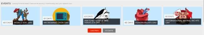 Alle Events im Eventkalender bei Researchbase Pro