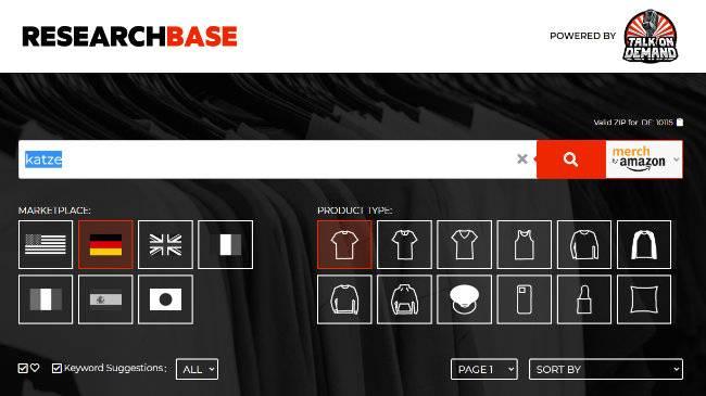 Die Startseite von myresearchbase.com